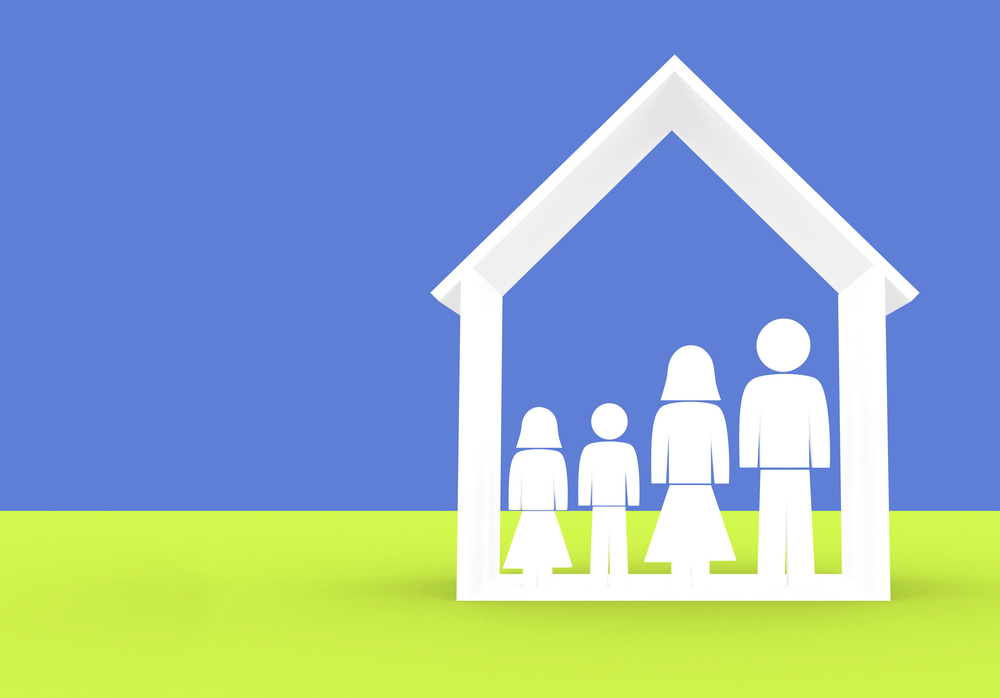family illustration made in 3d good for home insurance designs-1